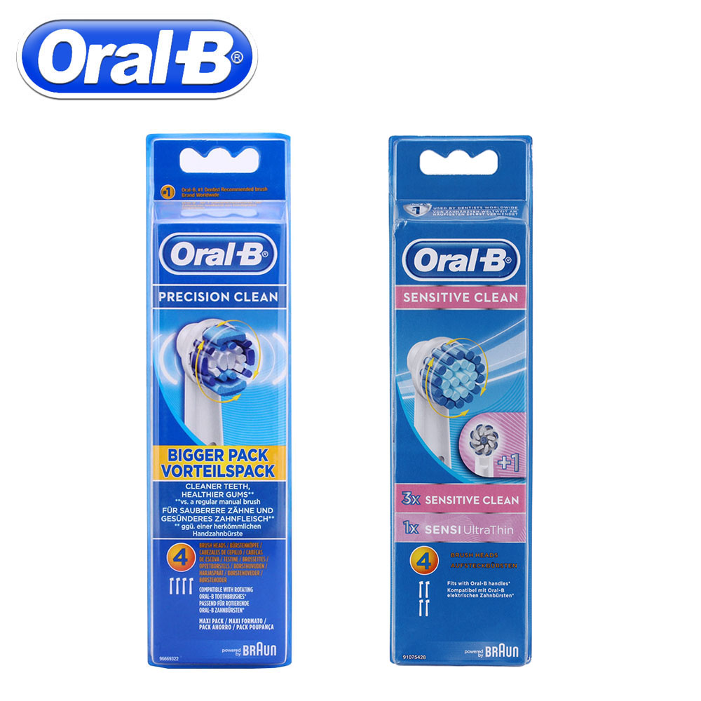 4pc/Pack Oral B Electric Toothbrush Heads For Oral B Precision Clean Rotation Sensitive Replacement Electric Toothbrush image