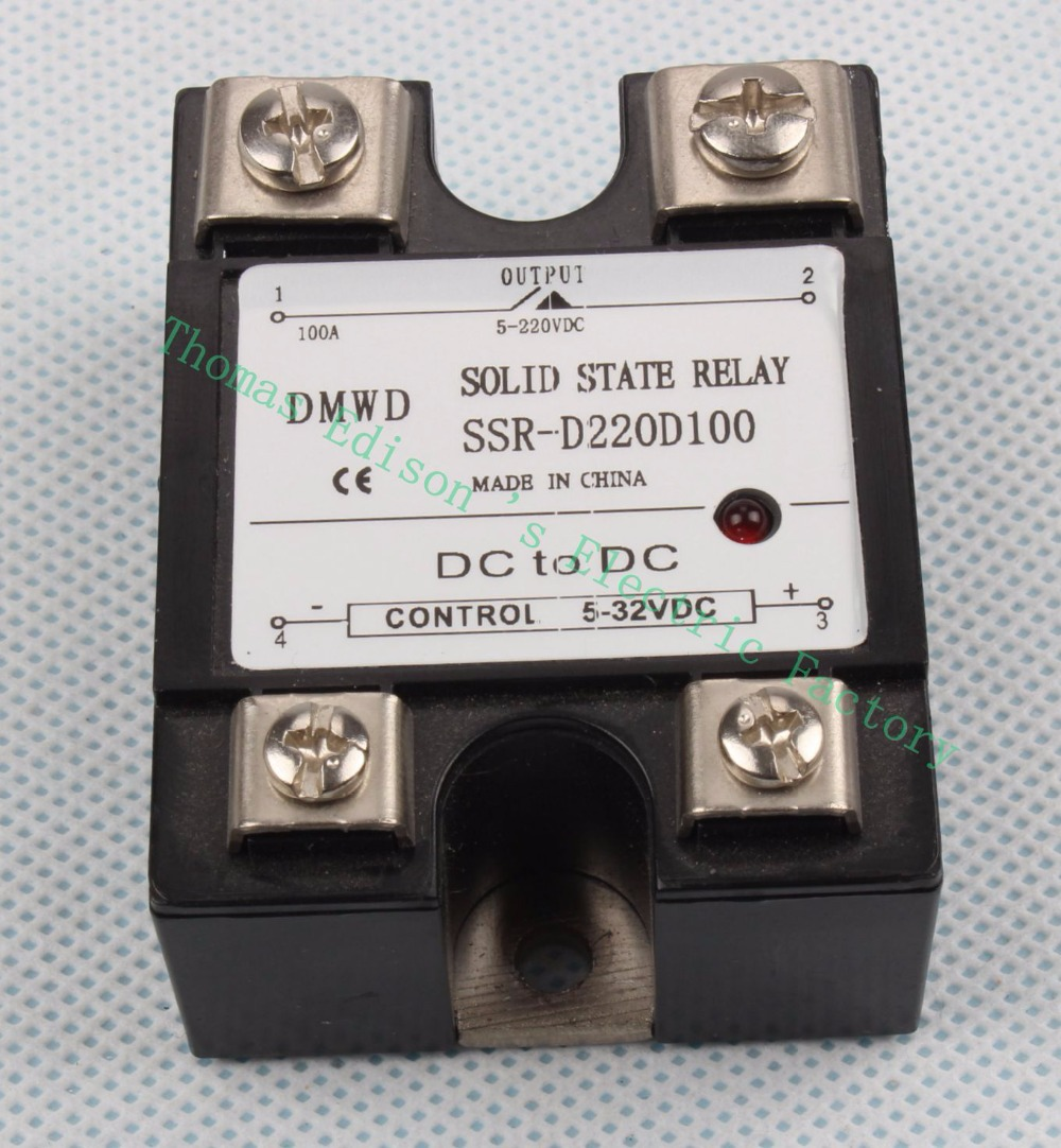 TOP BRAND DMWD SSR-100DD solid state relay with indicator DC 5-32v to DC 5-220v single phase DC-DC SSR 100DD 100A  SSR-D220D100 normally open single phase solid state relay ssr mgr 1 d48120 120a control dc ac 24 480v