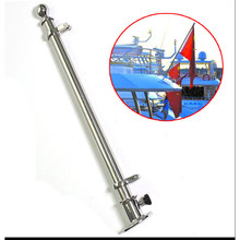 "Deck Flag Pole & Socket Base 30""/760mm 316 Stainless Steel Marine Boat For Fishing Flatable Kayak Canoe Boat Yacht Accessories(China)"