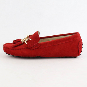 Image 2 - 2020 Fashion Women Genuine Leather Flat Shoes Handmade Moccasins Lady Leather Loafers Casual Driving Shoes Women Flats Shoes