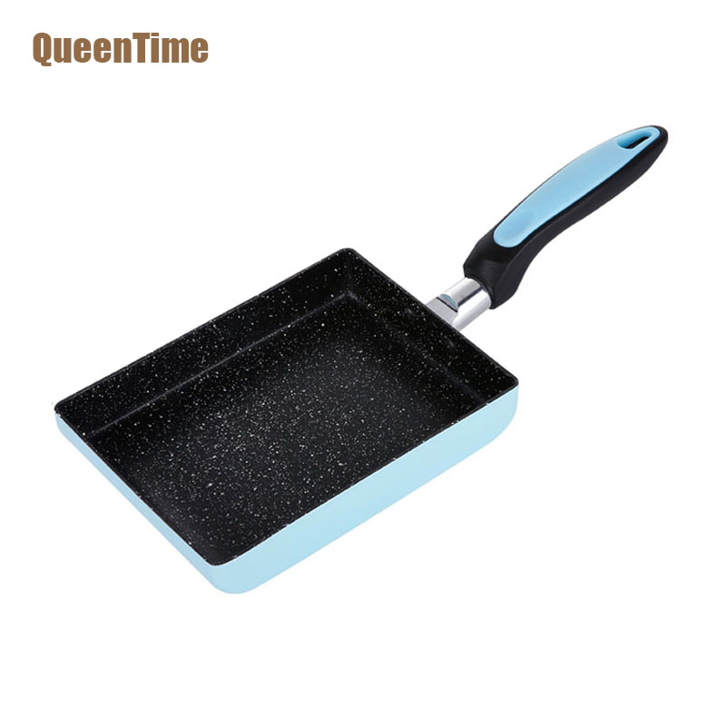 QueenTime Professional Jade Burner Square Frying Pan Aluminum Alloy Non-Stick Chef Grill Pans Non-Smoke Pan Cooking Accessories