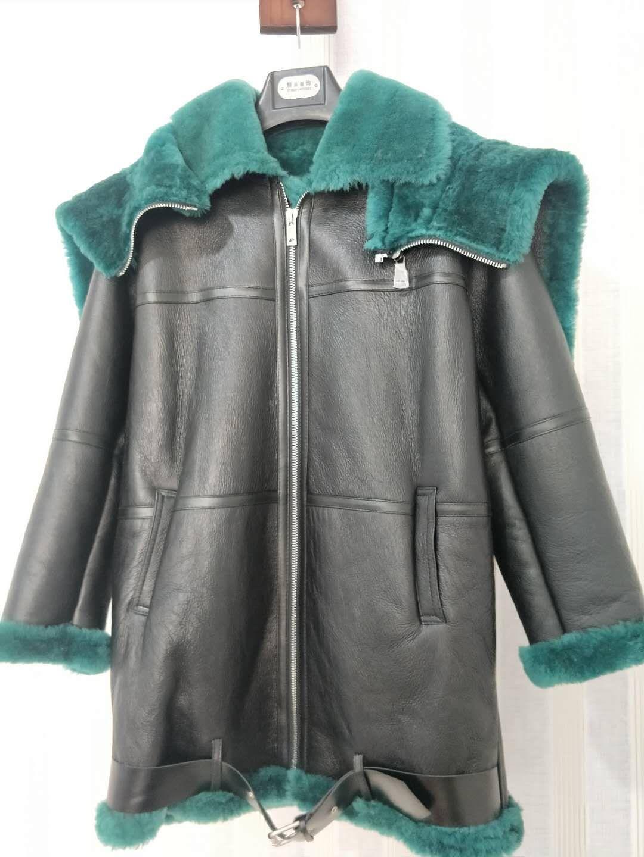 2019 новая зимняя куртка женская парка из натуральной кожи с натуральным мехом пальто двусторонний бренд Роскошная шерстяная Верхняя одежда