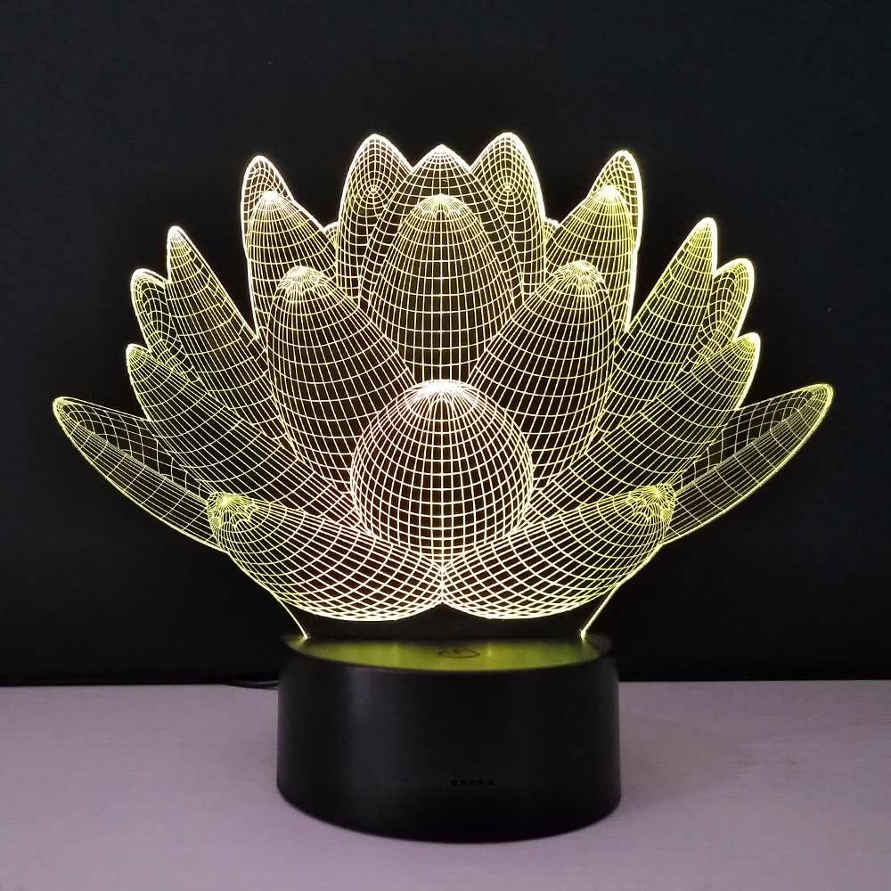 3d optical illusion night lights methacrylate plate desk table lamp 3d optical illusion night lights methacrylate plate desk table lamp bulb lotus flower usb novelty bedside lampad home deco lampy in led night lights from izmirmasajfo