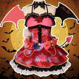 Костюм для косплея Love Live Kotori Minami Little Devil Awakening, костюм для Хэллоуина, праздничный костюм, бесплатная доставка, индивидуальный заказ