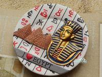 Pharaoh Tutankhamun Pyramid Egypt Tourist Travel Souvenir 3D Resin Decorative Fridge Magnet Craft