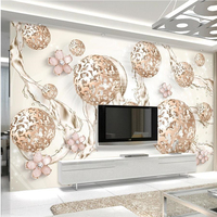Papel De Parede Chinese 3D Stereoscopic Personalized Roses Embossed Wallpaper Bedroom Cozy Living Room TV Backdrop