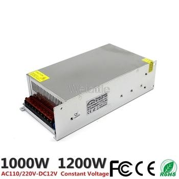 DC12V 83.3A 1000W 100A 1200W LED Light Belt Driver Switching Power Supply 110/220VAC Transformer CCTV CNC Industrial Equipment