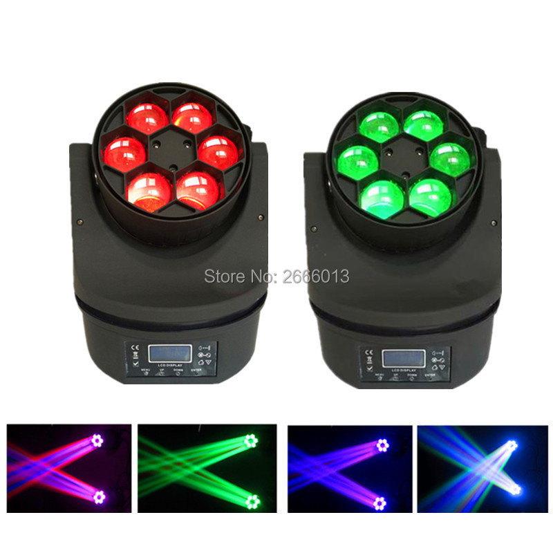 2pcs/lot Best quality 6x15W LED Bee Eye Beam Light RGBW 4IN1 DMX512 Moving Head Light DJ /Bar/Show/Stage Light LED Stage Machine ...