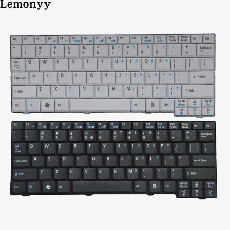 NEW US Laptop Keyboard For Acer Aspire One ZG5 D150 A150 A150L ZA8 ZG8 D210 D250 A110 AO531H Emachines EM250 English Keyboard