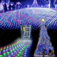 Waterproof AC220V 4Mx6M 762LEDS Christmas net Lights Christmas Lights outdoor Led net string Lights For Wedding Holiday New year