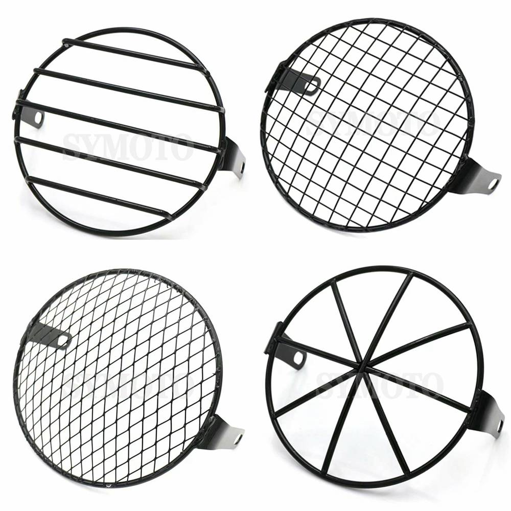 Universal 7inch Motorcycle Front Headlight Lampshade Mesh