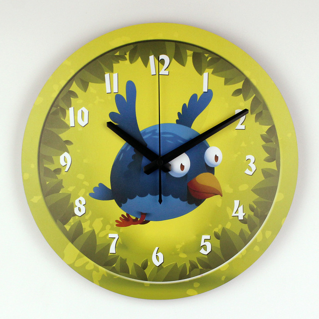 Cartoon Wall Decoration Wall Clock With Silent Clock Movement For ...