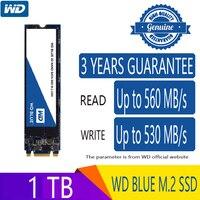 WD синий 1 ТБ M.2 SSD твердотельный накопитель Жесткий диск NGFF 1000 Гб встроенной M2 2280 SATA 6 ГБ/сек. 560 МБ/с. для портативных ПК Тетрадь