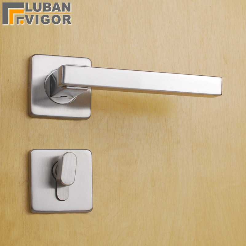 Split indoor Mute Door lock/handle,popularSquare panel,Hollow tube, 304 stainless steel,Exquisite workmanship,Door hardwareSplit indoor Mute Door lock/handle,popularSquare panel,Hollow tube, 304 stainless steel,Exquisite workmanship,Door hardware