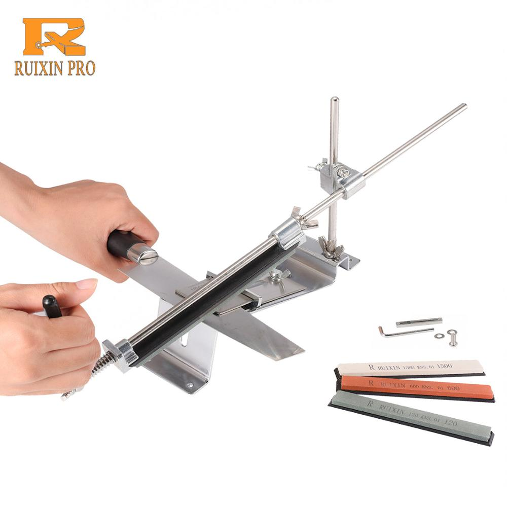 Ruixin Pro professional kitchen knife sharpener iron steel fixed angle with stones|Sharpeners|   - AliExpress
