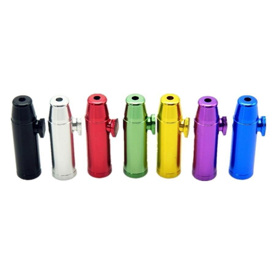 Acquista A Buon Mercato Casuale Metallo Proiettile A Forma Di Disegno Snuff Sniffer Mini Tubo Di Fumo Naso Cachimbo Tubo Di Fumo Fumo Di Sigaretta Accessori
