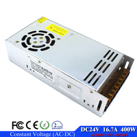 Small Size Best Price 24V DC Power Supply 16 7A 400W Transformer 110V 220V AC DC