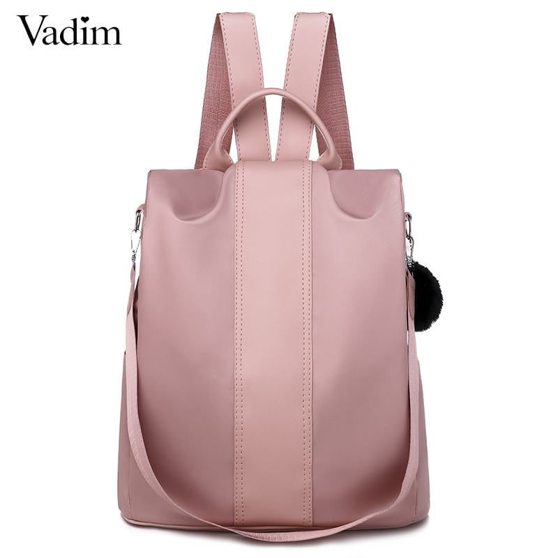 Vadim Oxford Anti Theft Backpack Women Bags Mini Backpacks For Girls Travel Backpack School Bag For Teenage Girls Sac A Dos