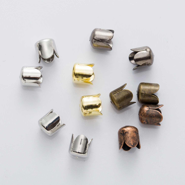 10pcs Brass shape Bell End Bead Cap Tip Jewelry Findings Craft Making Bronze
