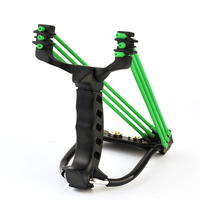 Powerful Rubber Bands Hunting Slingshot With Searchlight Folding Wrist Camouflage Slingshot Catapult for Outdoor Games HW45