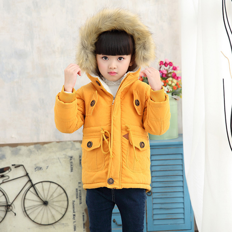 WENDYWU NEW COME 2-8T girls boys coats and jackets 2017 autumn winter Korean boys USA flag hooded coat thick cotton warmer kids casual 2016 winter jacket for boys warm jackets coats outerwears thick hooded down cotton jackets for children boy winter parkas