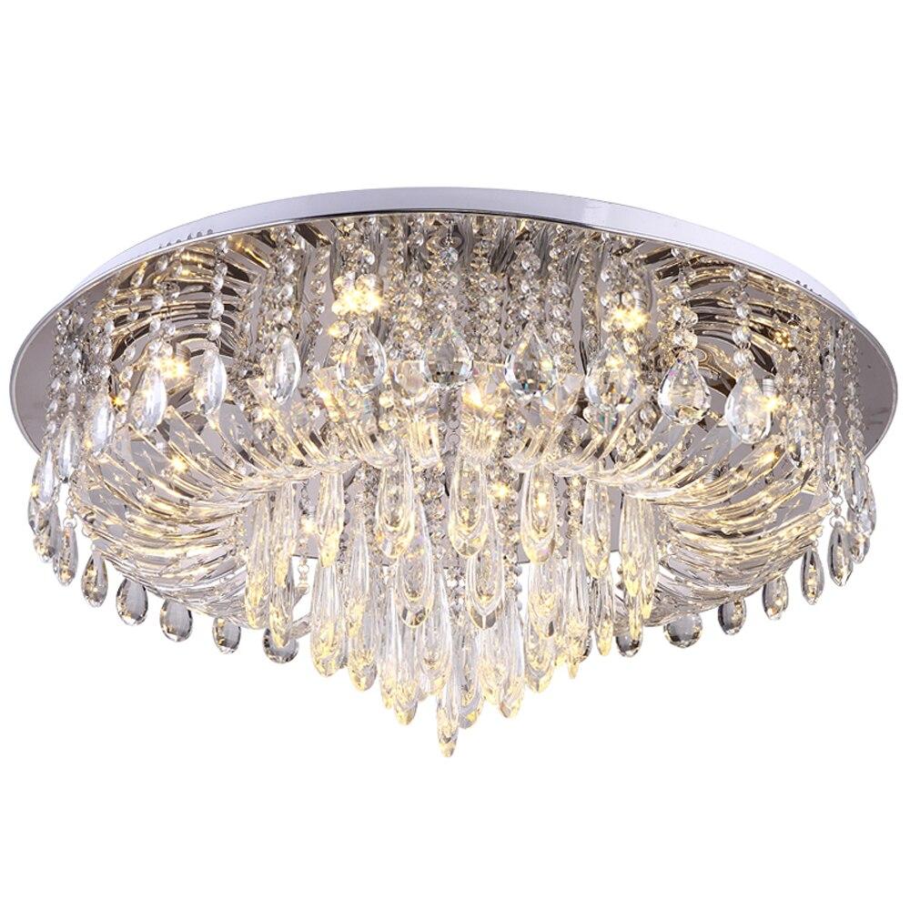 Design de luxe en cristal plafonnier moderne éclairage AC110V 220 v lustre plafonnier led chambre salon lampe