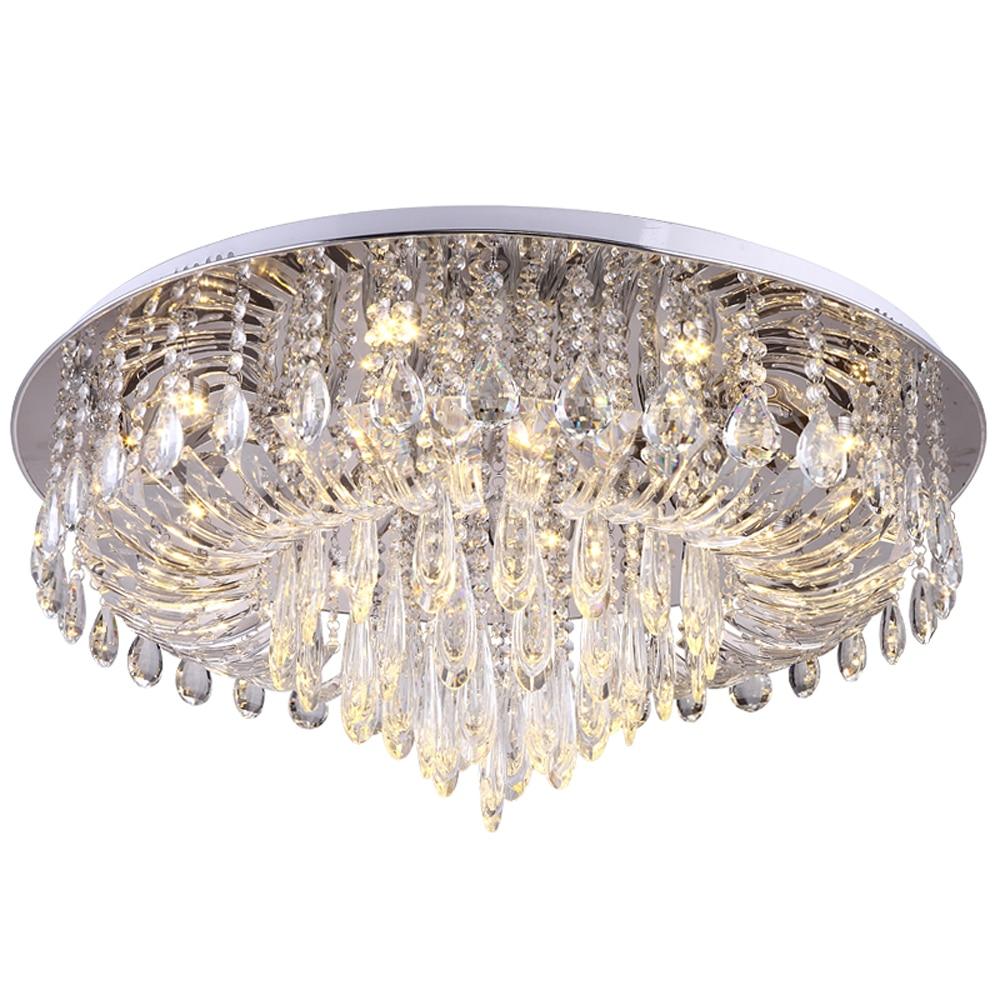 Design di lusso di cristallo luce di soffitto moderna illuminazione AC110V 220 v lustro plafonnier ha condotto la camera da letto soggiorno lampada della stanza