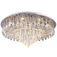 Роскошный дизайн кристалл потолочный светильник современного освещения AC110V 220 В блеск plafonnier светодио дный спальня гостиная лампа