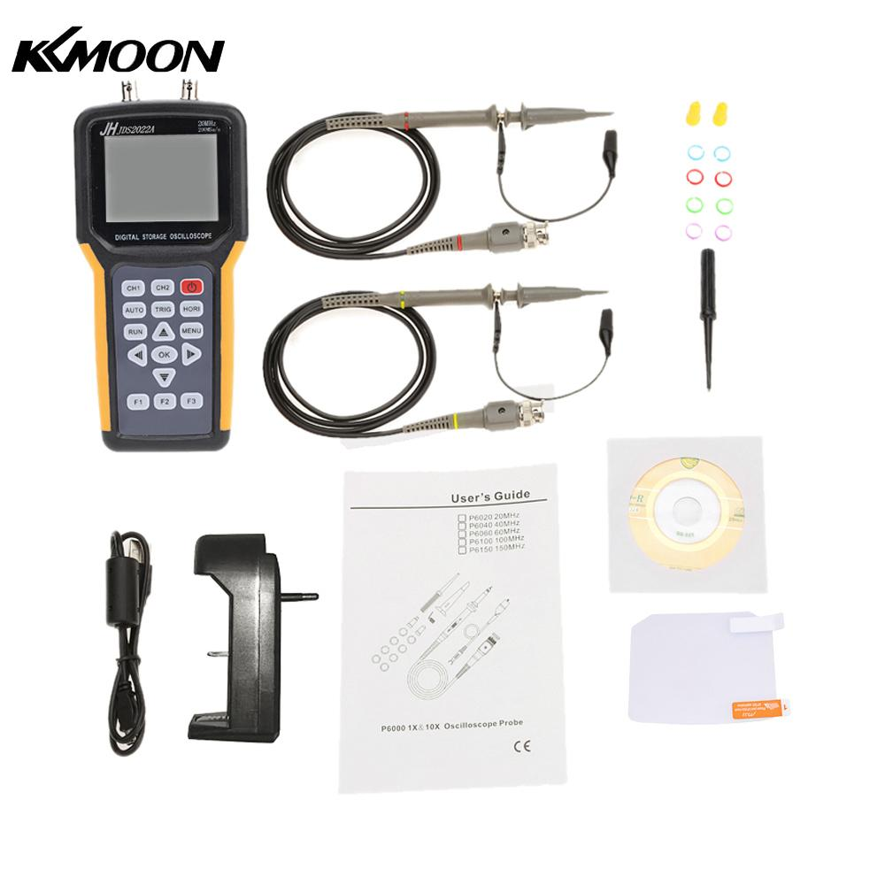 Handheld Digital TFT LCD Dual channel 2 Channels Oscilloscope Portable Scope Meter 20MHz Bandwidth 200MSa s