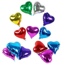 5pcs 10 inch Gold Heart Balloons Star Foil Helium Birthday Decorations Kids Wedding Party Supplies Inflatable Air Balls