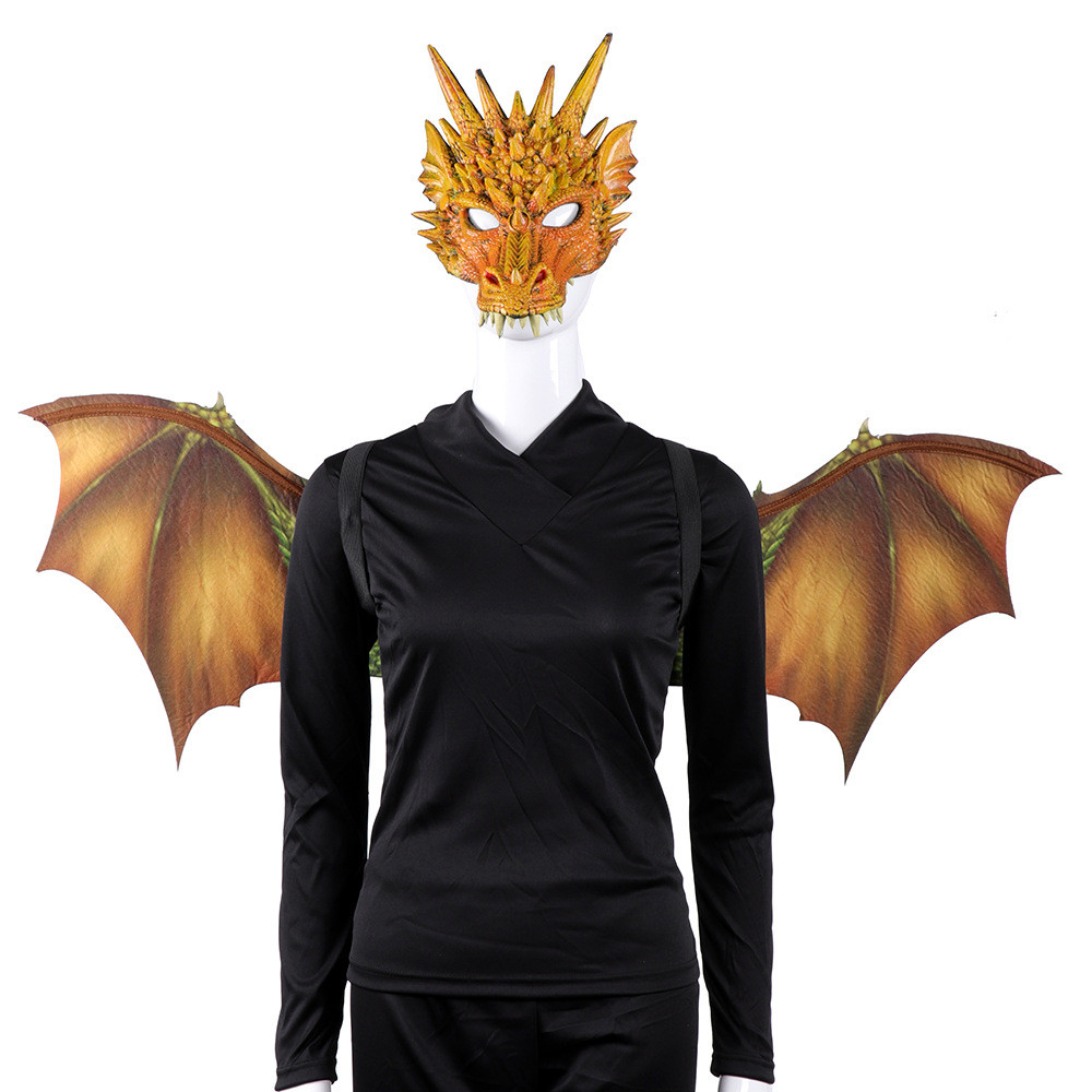 Halloween High Quality Soft Christmas Gift Carnival Party Adult Cosplay Decoration Set Wing and Tail Adult Dragon Costume