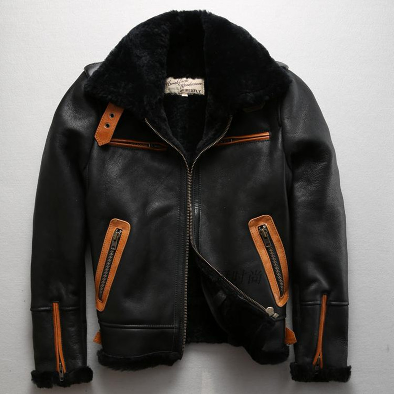 Popular Mens Sheepskin Coat-Buy Cheap Mens Sheepskin Coat lots ...