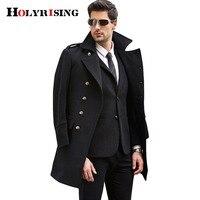2017 גודל גדול S-3XL cappotto mont erkek ארוך צמר מעיל צמר גברים את אותו מעייל החורף מעיל abrigo hombre Holyrising