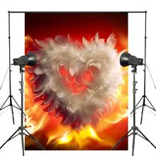 Photography Backdrop Valentines Day Heart Background Wedding Photo Studio Wall 150x220cm Love Flames