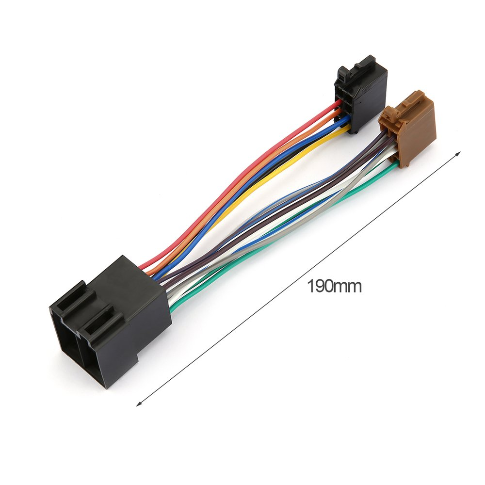 Car Stereo Audio Harness with ISO Adapter Automobile Radio Wiring Harness  For Peugeot 106 206 306 307 405 406 607-in Cables, Adapters & Sockets from  ...