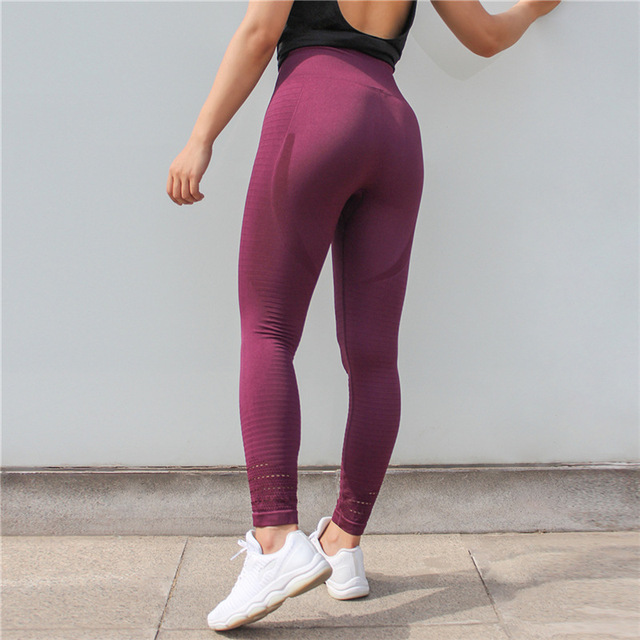 d4e2dc0b5f913 Soft Fitted Yoga Pants Women Seamless High Waist Running Tights Gym Workout  Pants Tummy Control Yoga Leggings