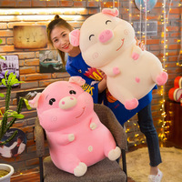 stuffed toy large 60cm happy pig plush toy down cotton cartoon pig soft doll hugging pillow Christmas gift s2763