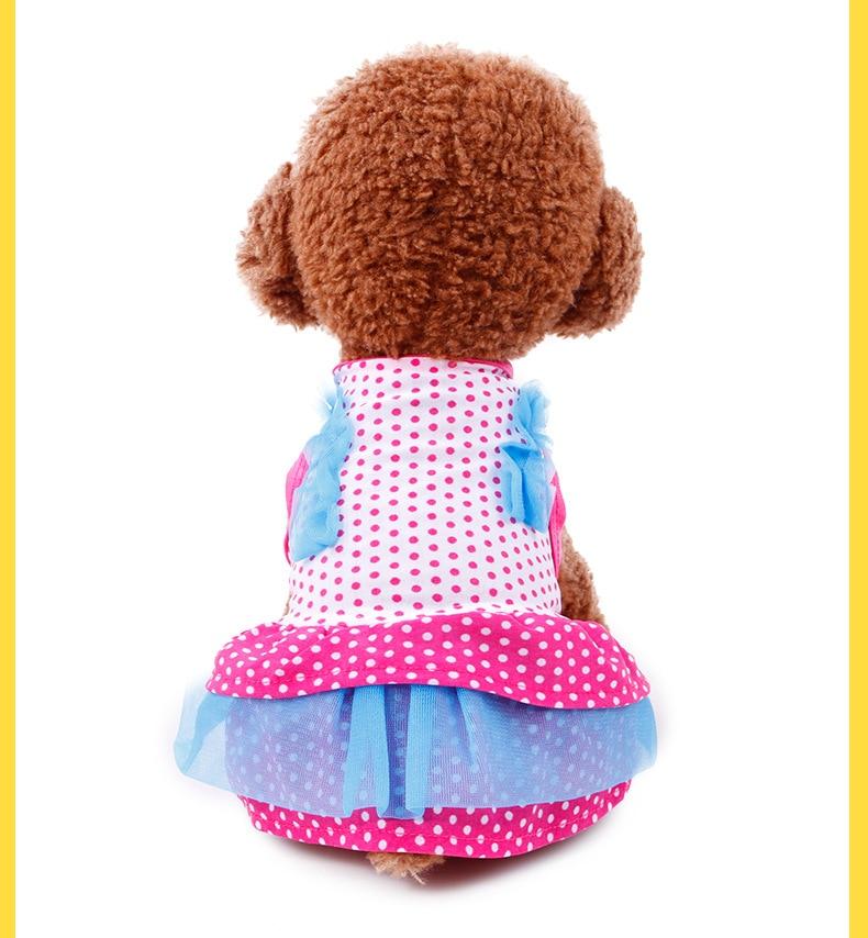 2017 여름 새 패션 개 드레스 사랑스러운 통풍 애완 동물 옷 인쇄 개 드레스 작은 개 무료 배송