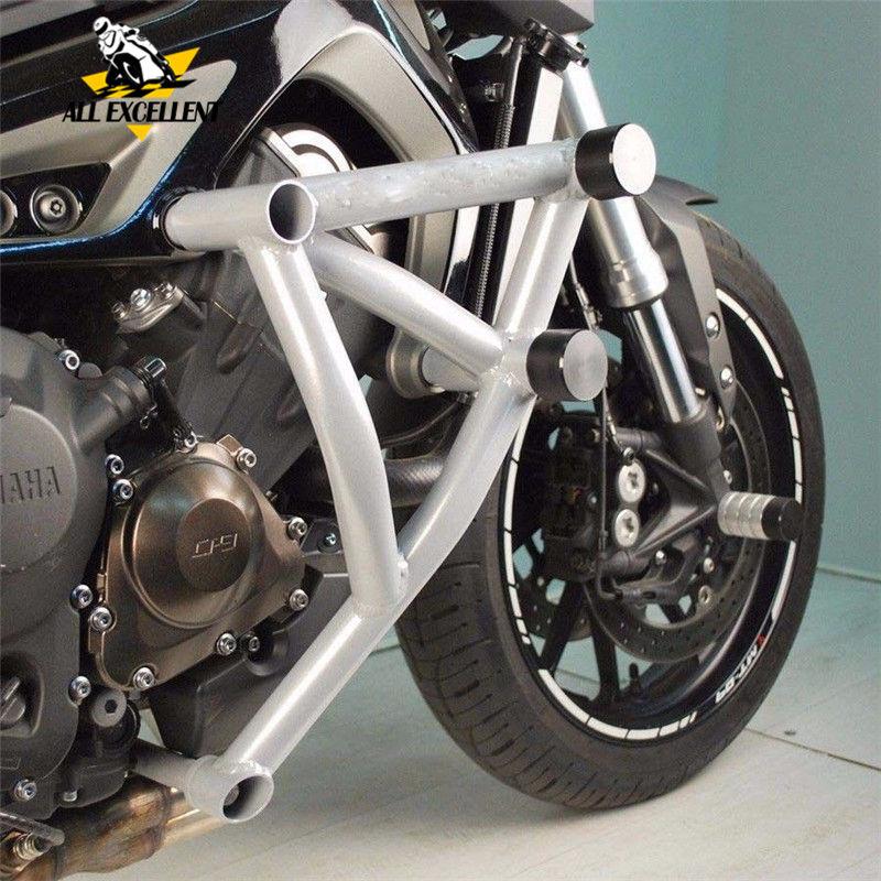 Black Engine Guard Crash bar Cover Protector For 2013 2014 2015 2016 Yamaha MT FZ 09 Tracer MT-09 FZ-09 MT09 FZ09 crash bar mt 09