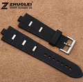 22mm NEW Men Top Quality Black Diving Silicone Rubber Watch Bands Straps Free Shipping