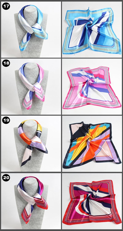 Trés beau foulards imitations soie 60x60 5