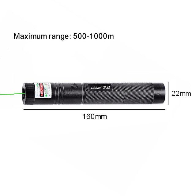 303 532nm Laser Verde Penna Puntatore Ad Alta Potenza Abbagliamento Torcia Elettrica Esterna di Viaggi Professionale Indicatore Caccia Dispositivo Laser 3