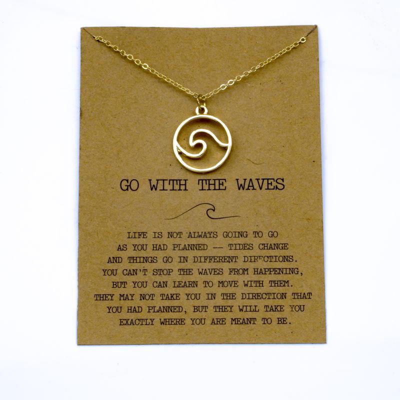 """SanLan 1 шт идут в комплекте ожерелье с подвеской """"волны"""" Океан ювелирные изделия - Окраска металла: 11"""