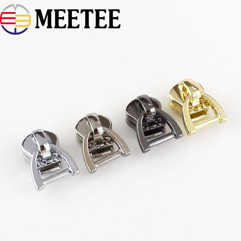 10 Pcs Metal Zipper Sliders Bottom Stopper For DIY Sewing Garment Tailor Crafts