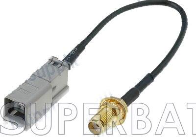 imágenes para Superbat RF Coaxial Cable GPS/GSM antena cable adaptador SMA a GT5-1S GT5 HSR para Mercedes Com cable de la Coleta de SMA Jack bulkhead