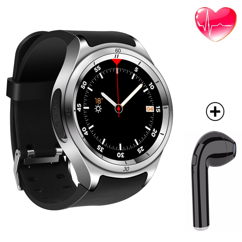 wearable devices mobile watch smart watch men smartwatch android pulseira inteligente for ios Android with heart rate monitor 3G цена
