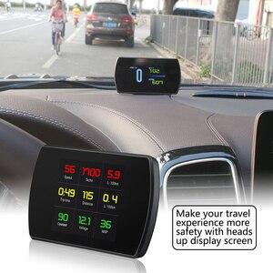 Image 4 - OBDHUD kopf up display Neue Auto Diagnose Werkzeuge OBD2 Auto Reise Auf board Computer Tacho Display Wasser Temperatur RPM