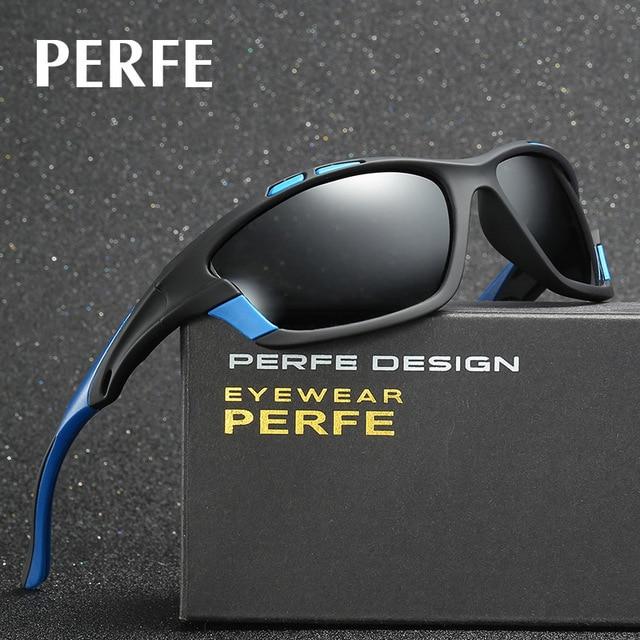 edd2f306d9 PERFE New Polarized Men Sun Glasses Outdoor Sports Biking Sunglasses  Goggles Eyewear 4 colors Biking Running Fitness Accessory