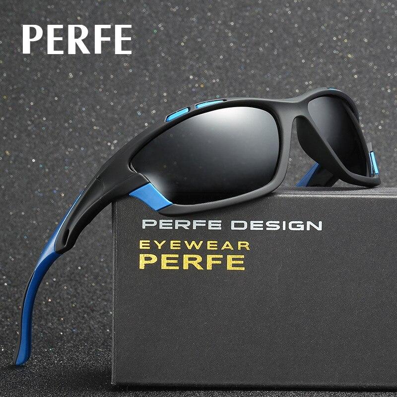 PERFE New Polarized Men Sun Glasses Outdoor Sports Biking Sunglasses Goggles Eyewear 4 colors Biking Running Fitness Accessory