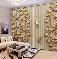 3D Curtains relief flower Print 3D Blackout Curtains For Living room Bedding room Drapes Cotinas para sala 3d curtains